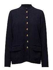 Knit Cotton Officer's Jacket - RL NAVY