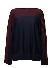 Color-Block Sweater - RED SANGRIA/RL NA