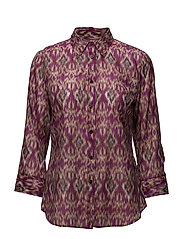 SILK COTTON VOILE-3/4 SLV SHIRT - MULTI