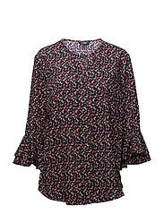 Geometric-Print Crepe Top - MULTI