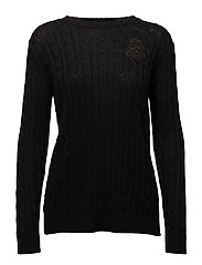 BRT RYN PLTD COTTON-L/S CREWNECK - POLO BLACK