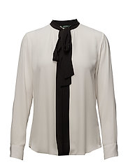 Georgette Necktie Blouse - MASCARPONE CREAM/