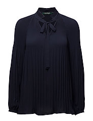 DRAPEY POLY GGT-LS TOP - NAVY
