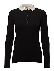 Stretch Cotton-Blend Sweater - POLO BLACK/MASCAR