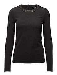 Beaded-Neck Cotton T-Shirt - DARK GENTS HEATHER