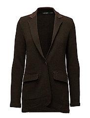 Knit Cotton-Blend Blazer - DEEP FOREST MULTI