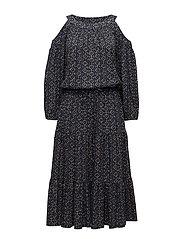Woodblock Jersey Midi Dress - MULTI
