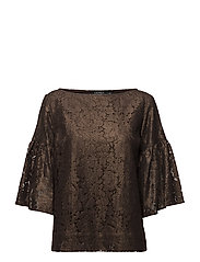Lace Boatneck shirt - COPPER