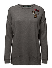 Embellished Crewneck Sweater - CITYSCAPE GREY HE