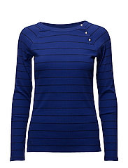 RFND STRTCH 2X2 RIB-CREWNK TOP - EMPRESS BLUE/POLO