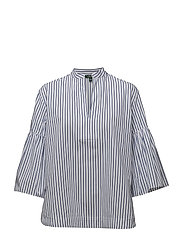 Y/D TIDE STRIPE-3/4 SLV SHIRT - BLUE/WHITE