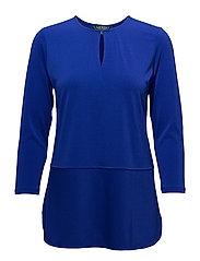 Keyhole Jersey Top - EMPRESS BLUE