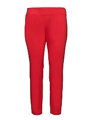 Twill Skinny Pant - TOMATO RED