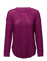 Ribbed Crewneck Sweater - SPRING BEGONIA