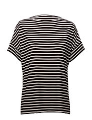 Striped Jersey T-Shirt - POLO BLACK/WHITE