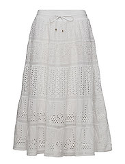 ROMANTIC EYELET-MAXI SKIRT - WHITE