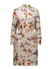 Floral Twill Utility Dress - MULTI