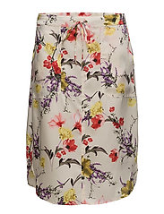 Floral Twill Skirt - MULTI
