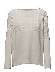 GASSED COTTON-L/S BT NK - MASCARPONE CREAM