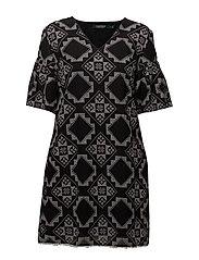 Geometric-Print Dress - POLO BLACK