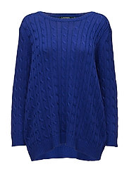 BRT RYN PLTD COTTON-L/S CREWNECK - EMPRESS BLUE