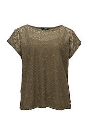 Embroidered Sheer Top - AUTUMN SAGE