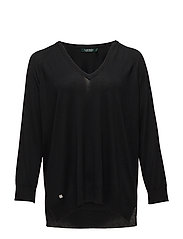 MODAL CASH-PLUS SLK-L/S V NK TUNIC - POLO BLACK
