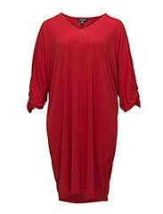 STR MATTE JERSEY-DRESS - LIPSTICK RED