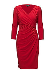 Ruched Jersey Dress - ORIENT RED
