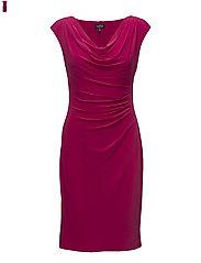 Stretch Jersey Cowlneck Dress - RIVERIA ROSE