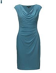 Stretch Jersey Cowlneck Dress - URBANE TURQ