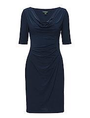Cowlneck Jersey Dress - LUXE BERYL