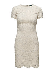 Lace Short-Sleeve Dress - IVORY
