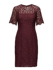 Lace Sheath Dress - RIOJA