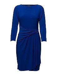 Stretch Jersey Boatneck Dress - GALLERY BLUE