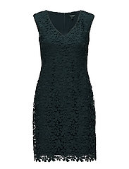 Lace Sheath Dress - WOODLAND GREEN