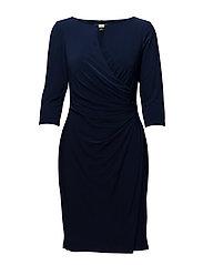 Ruched Jersey Dress - DEEP SAPPHIRE