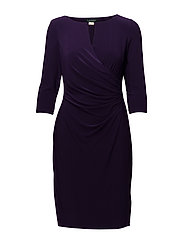 Ruched Jersey Dress - MURE PURPLE