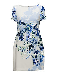 B489-PONCE FLORAL-CHASELLE - COL CREAM/BLU/MLT