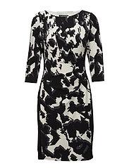Floral-Print Jersey Dress - BLACK/SLATE/COLON