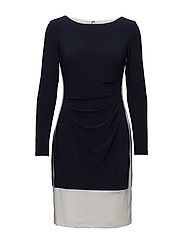 Ruched Jersey Dress - LH NAVY/LAUREN WH