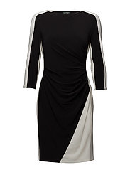 Two-Tone Jersey Dress - BLACK/LAUREN WHIT