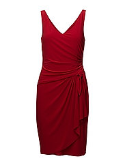 Shirred Jersey Dress - ORIENT RED
