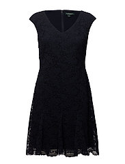 Lace Godet Dress - LIGHTHOUSE NVY