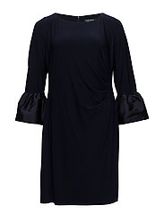 Taffeta-Jersey Dress - LH NAVY/LH NAVY