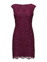 Lace Cap-Sleeve Dress - MINERVA BERRY