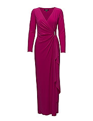 Ruched Jersey Gown - PINK SOIREE