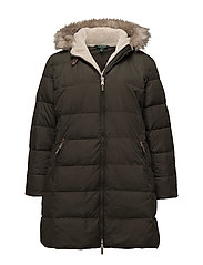 COTTON HAND-DOWN FILL COAT - LITCHFIELD LODEN