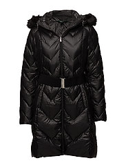 SOFT DOWN-DOWN FILL COAT - BLACK