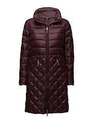 SOFT DOWN-DOWN FILL COAT - BURGUNDY